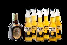 botella de Whisky Old Parr 750 ml + 6 Unidades Cerveza Corona