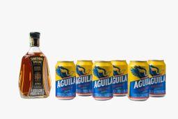 Whisky Something Special 750 ml + 6 U Cerveza Aguila Lata 355 ml