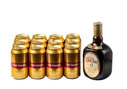 Whisky Old Parr 750 ml + 12 U Cerveza Club Dorada 330 ml
