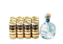 Tequila Don Julio 750 ml + 12 U Cerveza Cotidiana 269 ml