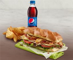 Combo Sandwich de Pavo + Acompañamiento+ Gaseosa 400 ml