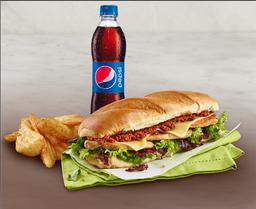 Sandwich Sublime Pollo + Acompañamiento + Gaseosa Pet 400ml