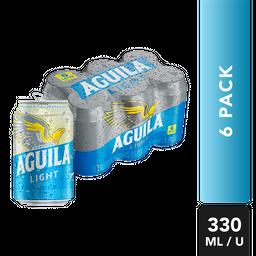 Cerveza Light - Aguila - Display X6 Latas 330 Ml