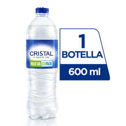 Agua Cristal Sin Gas 600 ml