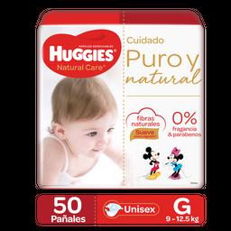 Pañales Huggies Natural Care Etapa 3/G, 50Ud