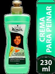 Crema Para Peinar Konzil Aceite De Almendras 230Ml