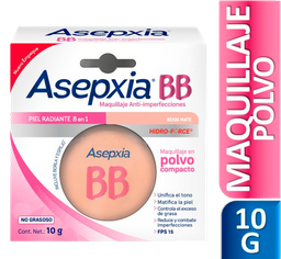 Asepxia Maquillaje Facial Antiacne Polvo Beige Mate 10 G