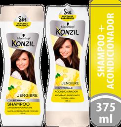 Shampoo Konzil Jengibre + Acondicionador 375 mL