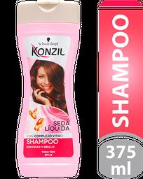 Shampoo Konzil Suavidad Y Brillo Seda Liquida 375Ml
