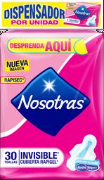 Toallas Higiénicas Nosotras Invisible Rapigel Cubierta 30U