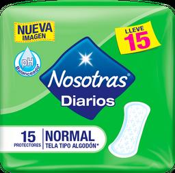 Protectores Diarios Nosotras Normal  X 15Und