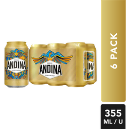 Cerveza - Andina - Display X6 Latas 355 Ml
