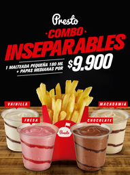 Mini Malteada y Papas Medianas