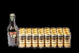 Botella Baileys 700 ml + 24 U Cerveza BBC Cotidiana lata 269 ml
