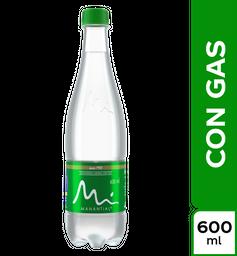 Botella de Agua Manantial con Gas 600Ml