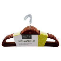 Set de 20 Ganchos Gamuza Expressions Storage-Café