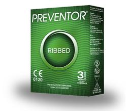 Preventor Ribbed Preserv Tridex Disp X 3