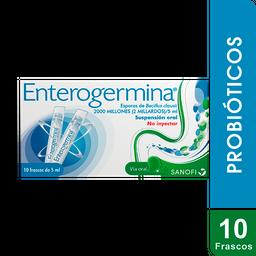 Enterogermina 2000 Millones X 10 Frascos. Probióticos