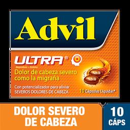 Advil Ultra Dolor de Cabeza severo como la migraña X 10 Cáps
