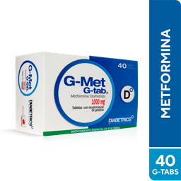 G-Met 1000Mg G-Tabs Caja X 40 Tab Metformina Clorhidrato.