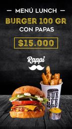 Combo Burger 100 Gr