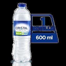 Agua Sin Gas - Cristal - Botella Pet 600 Ml