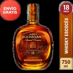 Whisky 18 Años - Buchanans - Botella 750 Ml