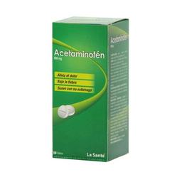 Acetaminofén La Sante 100 Tabletas 500 mg