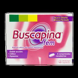 Buscapina Fem 6 Tabletas 20 mg 400 mg