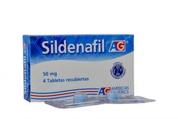 Sildenafil Ag 4 Tabletas 50 mg