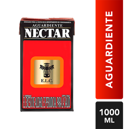 Aguardiente Con Azucar Rojo - Nectar - Tetra Pak 1000 Ml