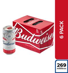 Cerveza Budweiser - Lata 269Ml X6