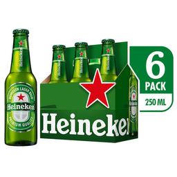 Cerveza - Heineken - Display X6 Botellas 250 Ml