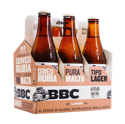 Cerveza Artesanal Lager - Bbc - Display X6 Botella(S) 330 Ml