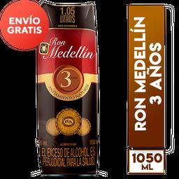 Ron Medellin 3 Años Tetra Extra Contenido 1050 Ml