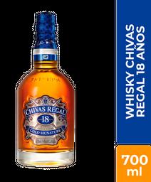 Whisky  18 Años - Chivas  Regal - Botella 700 Ml