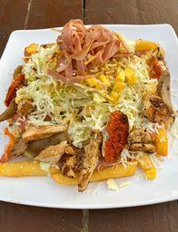 PROMO: 2X1 Salchipapa de Pollo y Ranchera + Tocineta y Maiz