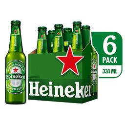Cerveza Heineken Six Pack - Cerveza Premium 6 Botellas