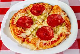 Pizza de chorizo español diábola