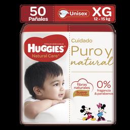Pañales Huggies Natural Care Etapa 4/XG, 50Ud