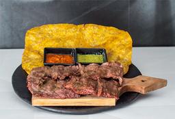 Tostón con Carne a la Plancha 220g