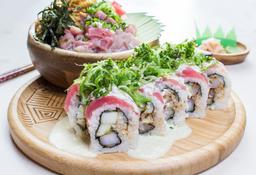 Sushi + Bowl + bebida gratis