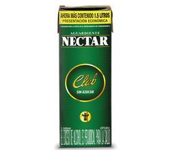 Aguardiente Sin Azúcar - Nectar Club Verde - Tetra Pak 1500 Ml