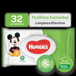 Toallitas Húmedas Huggies Limpieza Efectiva, 32Uds
