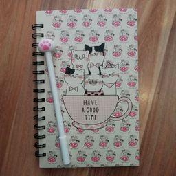 Cuaderno Gato  Con Esfero