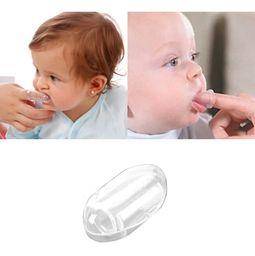 Cepillo Dientes De Dedo Para Bebe + Estuche transparente