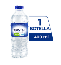 Agua Cristal Sin Gas 400 ml