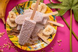 Paleta de banano, Avena y Canela