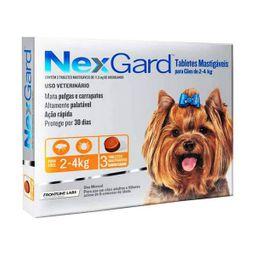 Antipulgas Nex Gard 2 - 4 Kg 3 Tabletas (11.3 mg) 3 U