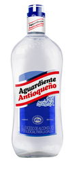 Aguardiente Antioqueño Azul Sin Azucar Litro Vidrio *1000 Ml